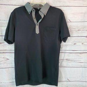 Uniqlo Short sleeved Polo Shirt Large Black Check